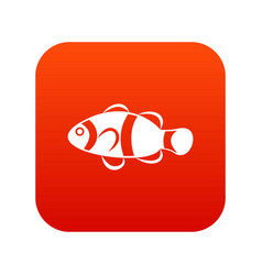 cute clown fish icon digital red vector image