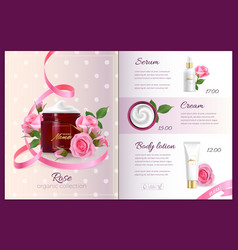 Design advertising poster for cosmetic product vector