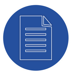 document paper isolated icon vector image
