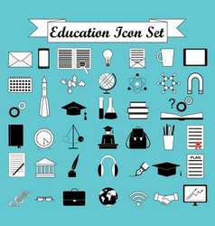 education icons science icons set vector image