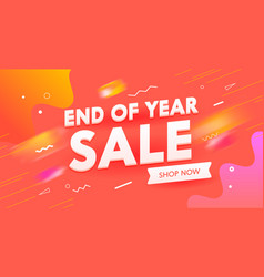 end year sale banner digital social media vector image
