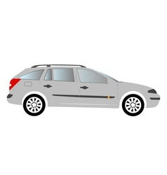 estate car colored vector image