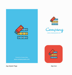 files copy company logo app icon and splash page vector image