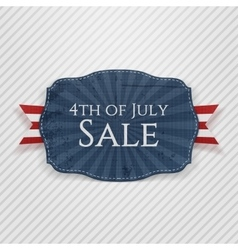 Fourth of July Sale Holiday Tag vector image