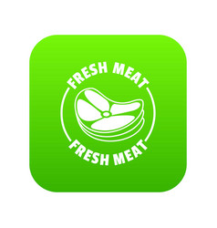fresh meat icon green vector image
