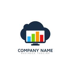 graph cloud logo icon design vector image