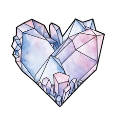 Graphic crystal heart vector