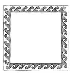 Greek frame with wave vector