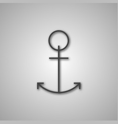 grey anchor icon vector image