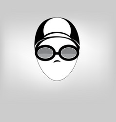 icon woman swim vector image