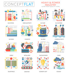Infographics mini concept heavy and power industry vector