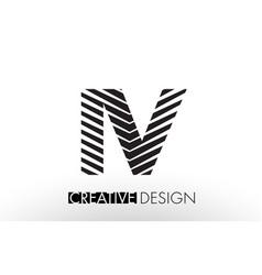 iv i v lines letter design with creative elegant vector image