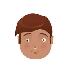 Kid child boy avatar head vector