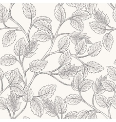 Leaves branch pattern vector