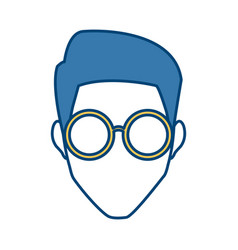 Man face with glasses vector