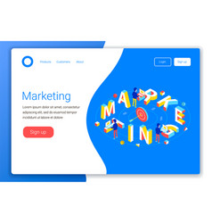 marketing isometric concept vector image