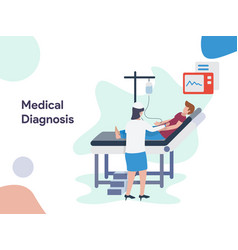 medical diagnosis vector image