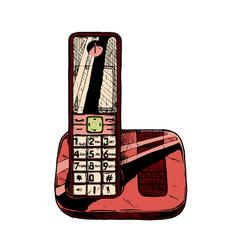 modern cordless telephone vector image