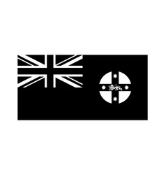 New south wales nsw state flag australia black vector