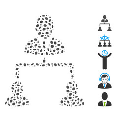 Oval mosaic human hierarchy vector