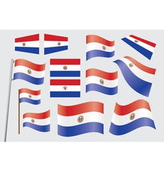 Paraguay Flag vector image