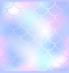 pastel fish scale pattern with color mesh vector image