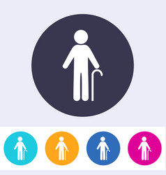 Pensioner man sign icon vector
