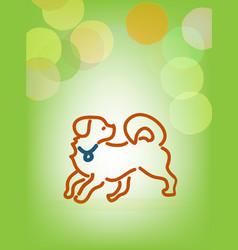 playful dog line art vector image