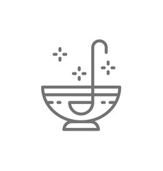 punch party drinks alcohol line icon vector image