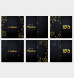 Set of marry christmas and happy new year banner vector