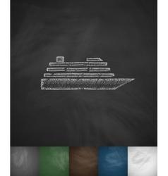 ship icon Hand drawn vector image