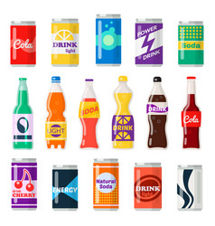 Soft drinks bottles vector
