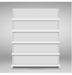 store shelves vector image