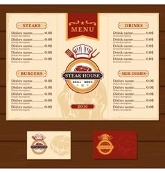 template for restaurant menu vector image