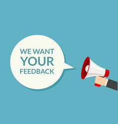 we want your feedback survey opinion service vector image