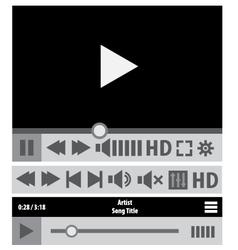 Web player design elements vector