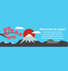 welcome to japan banner horizontal concept vector image