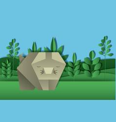wild life digital crafts in landscape vector image