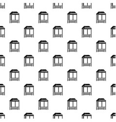 wood asian house pattern seamless vector image