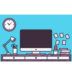 Workspace vector image