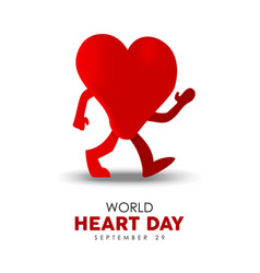 World heart day card for sport and health care vector