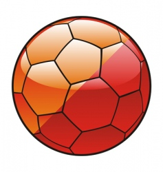 butane flag on soccer ball vector image vector image