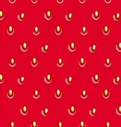 Seamless strawberry texture vector image vector image