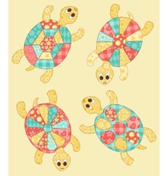 Set of turtles vector image vector image
