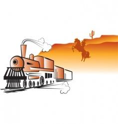 train cowboy vector image vector image