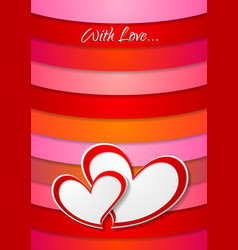 Valentines Day bright abstract background vector image