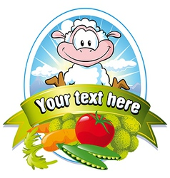 vegetable label vector image vector image