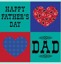 bandana heart fathers day vector image vector image