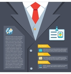 Business suit summary concept vector image