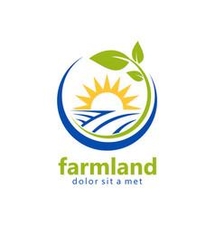 farmland organic natural logo vector image